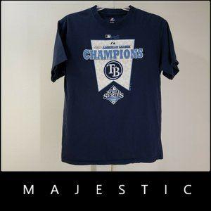 Majestic Men 2008 World Series T Shirt Large